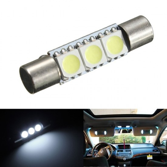 White 29mm 3smd Festoon Led Replacement, Makeup Mirror Replacement Bulb